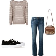 Untitled #325 by mustachemaniac03 on Polyvore featuring polyvore fashion style MANGO J Brand Vans Madewell