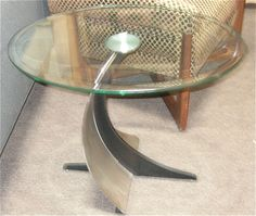 Jetsons style side table.