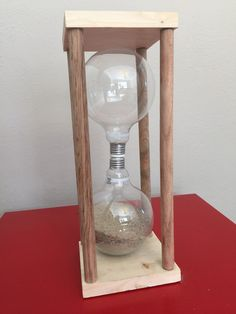 How+to+Make+an+Hourglass+Clock+Out+of+Light+Bulbs+--+via+wikiHow.com
