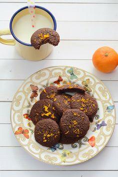 Galletas de chocolate, café y mandarina
