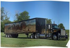 """Vintage Trucks 1973 Kenworth Black and Gold Semi Truck Poster - This 1973 Kenworth Black and Gold Semi Truck is a """"Smokey and the Bandit"""" Replica. I had the opportunity to photograph it at a local park in Riverside, Mo. Show Trucks, Big Rig Trucks, Trailers, Chevy Truck Models, Diesel Brothers, Smokey And The Bandit, Kenworth Trucks, Peterbilt 359, Ford Trucks"""