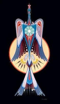Thunderbird, a native spirit how hold the power of the Spirit's will.