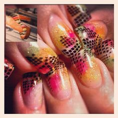 Shoe inspired nails by Tara seen in NailPro Magazine