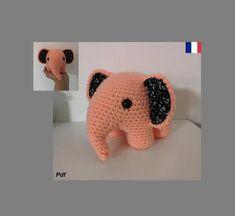 Chat Crochet, Crochet Amigurumi, Unicorn Pattern, Cat Pattern, Amigurumi Elephant, Mini, Dinosaur Stuffed Animal, Crochet Patterns, Toys