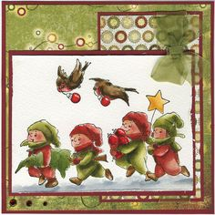 TOTS Carrying Christmas Tree. Sells for 10.99 Birds sold separately.  Made by: Art Impressions rubber stamps. You can purchase all items in my ebay store: Pat's Rubber Stamps & Scrapbooks, Click on the picture & see the listing , or call me 423-357-4334 with order, We take PayPal. You get FREE SHIPPING ON PHONE ORDERS of $30.00 or more. If it says sold I have more. Use my search engine to find the items you are interested in