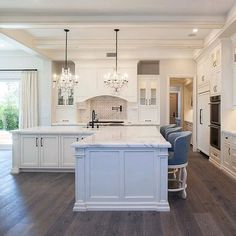 Now that's a kitchen island Dream! | by @ericabryendesign | #kitchens