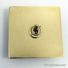 Victorian Dolly Switch Brass 1 Gang 2 Way
