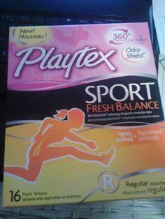 Playtex sport from my Influenster Dean's List Vox Box!
