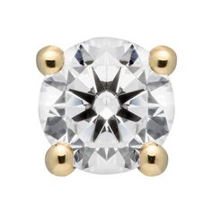 e62397c15 Solid Gold Round Cut Cubic Zirconia Stud Earrings, Screw Back Posts ctw),  Gift Box -- Find out more about the great product at the image link.