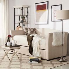 INSPIRE Q Deco Linen Daybed with Trundle