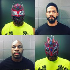 """""""The #PrimeTimePlayers (@titusoneilwwe & @fredarren) and #LuchaDragons (@kalistowwe & @sincarawwe_) join forces to face The #WyattFamily! #SmackDown"""""""