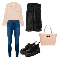 Untitled #185 by filomenamaria on Polyvore featuring polyvore fashion style Equipment Frame Denim Ted Baker clothing