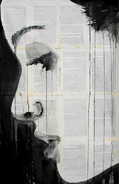 Emotional Dripping Ink Drawings on Old Books | Bored Panda