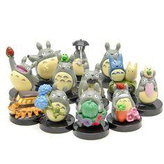 12pcs/lot my neighbor mini totoro figures toy set 2016 New kawaii  Japanese anime totoro action figurine gifts doll party decor  #cutetotoro #totoro #cutetoro Cutetoro  the Shipping is FREE world wide