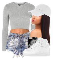 """3 more years "" by lovebrii-xo ❤ liked on Polyvore featuring NLY Accessories, Topshop and NIKE"