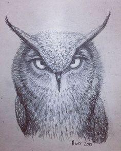 Haciendo un encargo #buho #owl #instadaily #drawing #draw #sketch #art #artwork  #instadraw #illustration #doodle #pencildrawing #pencildraw #instaday