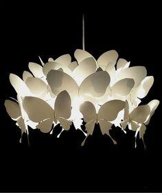 Butterfly lighting - Butterfly Lamp by Alex Earl Butterfly Lamp, Butterfly Lighting, Butterfly Pendant, Butterflies, White Butterfly, Butterfly Stencil, Lamp Design, Lighting Design, Chair Design