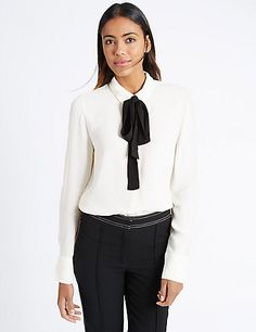 Long Sleeve Collared Neck Blouse | M&S