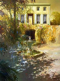 J Parcelier - Bing images Post Impressionism, Impressionist Art, Boston Art, Dappled Light, Classic Paintings, French Artists, Light Art, Art Studios, Art Day