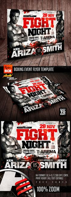 Boxing Event Flyer Template — Photoshop PSD #sports club #showdown • Available here ➝ https://graphicriver.net/item/boxing-event-flyer-template/20855259?ref=pxcr