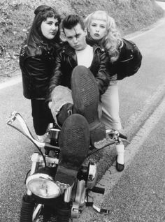 Ricki Lake, Johnny Depp, and Traci Lords by  Unknown Artist