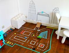 DIY – Gör din egna bilbana med washi tejp ‹ Dansk inredning och design