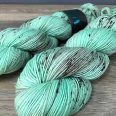 Mint Chocolate Chip  Hand Dyed Sock or Fingering by WIPyarns