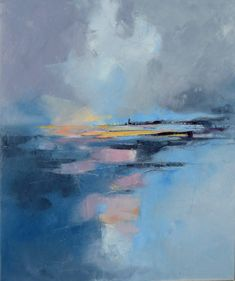 Blue lagoon juillet 15 by Malahicha on DeviantArt Abstract Landscape Painting, Landscape Paintings, Abstract Art, Contemporary Paintings, Abstract Expressionism, Painting Inspiration, New Art, Canvas Art, Artwork