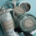 Printable labels and tutorial for making lavender bath salts for gifts.