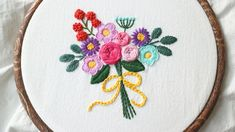 flower bouquet hand embroidery  쉬운 꽃다발 프랑스자수 배우기 Hand Embroidery Patterns Flowers, Flower Patterns, Decorative Plates, Coin Purse, Kurti, Instagram, New Trends, Trends, Needlepoint