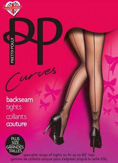 De Curves Bow Backseam naadpanty van Pretty Polly is een 20 denier naadpanty met een lichte glans speciaal voor vrouwen met een maatje meer. Sexy én comfortabel, dankzij de zachte stretchstof, de brede tailleband en het verstevigde broekje.