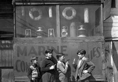 Near Fulton Fish Market, New York, 1946.  by Todd Webb