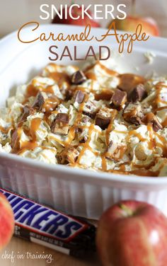 Host a Caramel Apple Tasting Party: Snickers Caramel Apple Salad
