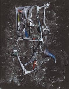Yves Tanguy • Plantes de glace (Nombres négatifs), 1946 Yves Tanguy, Surealism Art, Peggy Guggenheim, Modern Pictures, Antique Interior, Weird Art, Global Art, Fantastic Art, Art Market