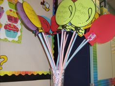 "What a ""sweet"" gift for the birthday kid!  Balloon sticks are made from Pixie Stix.  Not healthy, but lots of fun!"