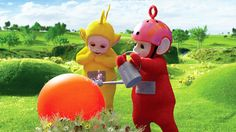 Po waters objects using a magic watering can, and a child in Tummy Tales waters tomatoes. Description from bbc.co.uk. I searched for this on bing.com/images