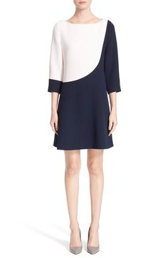 kate spade new york kate spade new york colorblock a-line dress available at Hijab Fashion, Boho Fashion, Fashion Dresses, Womens Fashion, Fashion Pants, Fashion Details, Fashion Design, Colorblock Dress, Mode Inspiration