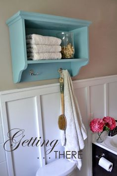 Ana White   Build a Martina Bath Wall Storage Shelf with Hooks   Free and Easy DIY Project and Furniture Plans