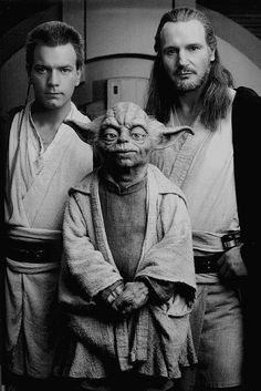 The three Jediteers. They should neve have killed off Qui-Gon Jinn (Liam Neeson) His character had so much potential.
