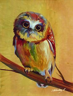 'Portrait of an Artist as a Young Owl' by Nancy Cawdrey