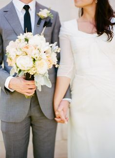 White and Black peony wedding bouquet Branches Event Floral Company
