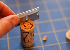 DIY Wine Cork Stamps Lil Blue Boo