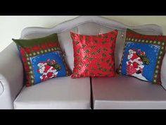 Como hacer cojines navideños fácil y rápido en 5minutos - YouTube Bed Pillows, Pillow Cases, Youtube, Home, House Decorations, How To Make, Pillows, Ad Home, Homes