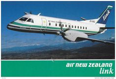 "AIR NEW ZEALAND ""link"" Saab 340 Airplane , 60-80s - Delcampe.com"