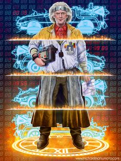 Back to the Future - Trilogy / Zurück in die Zukunft - Trilogie / Doc Brown Geek Culture, Culture Pop, Science Fiction, Doc Brown, Ferris Bueller, Comic Manga, Cinema Tv, Bttf, Art Deco Posters