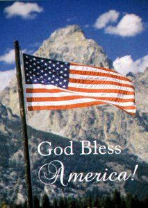 God Bless America Patriotic Flag