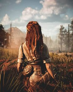 Aloy in Field Playstation Games, Ps4, Zero Wallpaper, Horizon Zero Dawn Aloy, Science Fiction, V Games, Epic Photos, Games For Teens, Life Is Strange