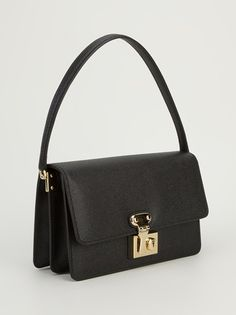 DOLCE & GABBANA - black leather shoulder bag  #dolceandgabbana #dolce&gabbana #dolce&gabbanabags #bags #shoulderbags #fashion