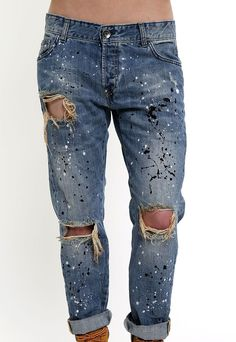 KASAAS Jeans for Men Firework Print Denim Pants Zip Fly Button Casual Fashion Cotton Straight Long Trousers