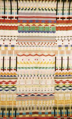 "bauhaus-movement: ""Gunta Stölzl, 5 Chöre 1928. Stölzl b.1897 German textile artist, played a fundamental role in the development of the Bauhaus school's weaving workshop. Bauhaus tapestry """